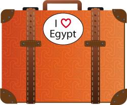 Koffer I love egypt