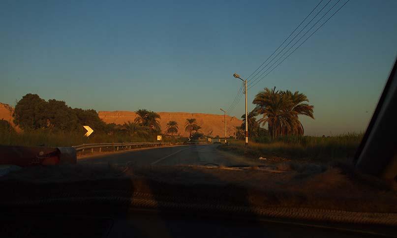 Blick aus Abduls Taxi Rückfahrt