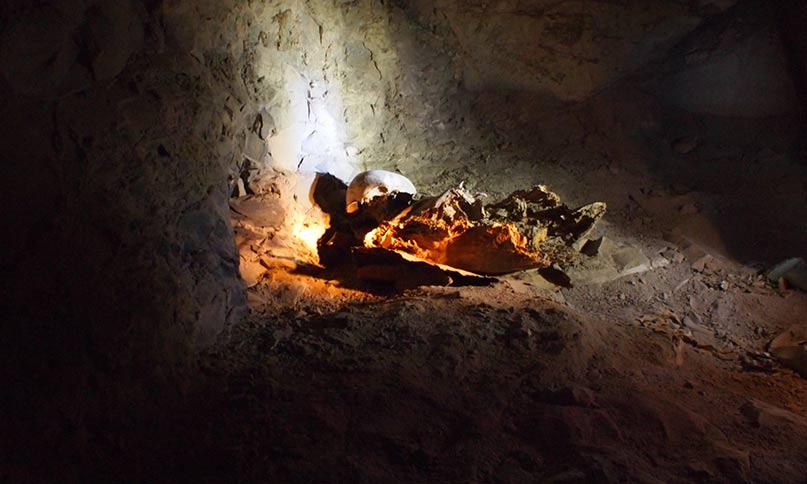 Knochenreste im Assasif