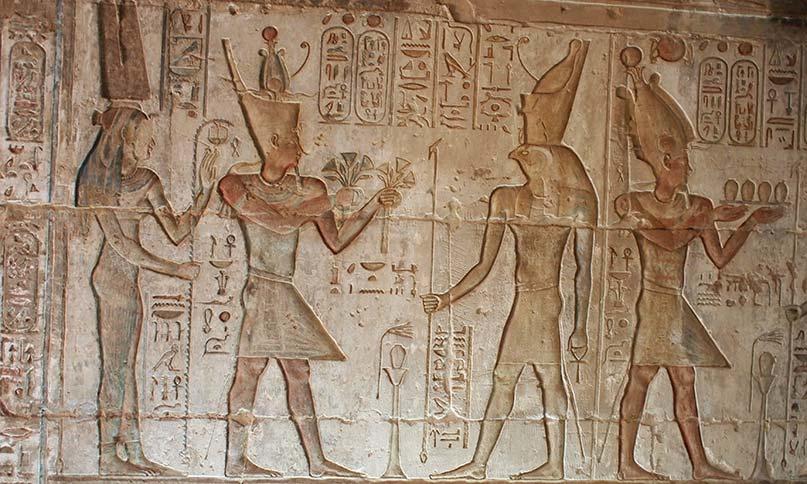 Ein Relief aus dem Hathor-Heiligtum