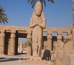 Ramses II. im Karnak-Tempel