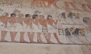 Trauerzug im Grab des Ramose