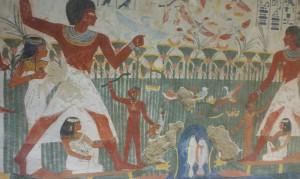 Der Grabherr Nacht und seine Familie bei der Vogeljagd