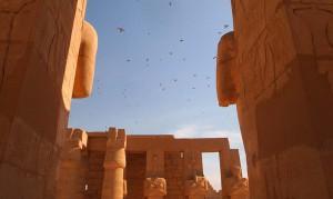 Vogelschwarm Ramesseum