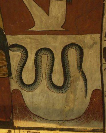 Die Schlange Apophis Grab des Sennedjem (TT1), Theben-West Neues Reich, 19. Dynastie