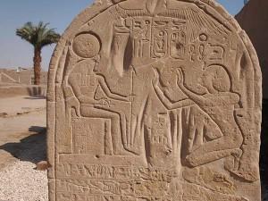 Pharao huldigt Re-Harachte, Tempel Sethos I.