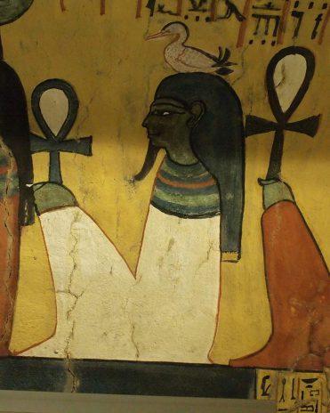 Der Erdgott Geb. Sein Name hiße übersetzt aber nicht Erde. Grab des Paschedu (TT 3), Theben-West Neues Reich, 19. Dynastie