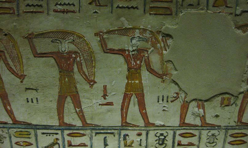 Götter mit Zaubernetzen im Grab Ramses VI.