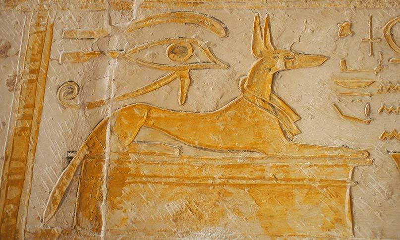 Anubis als Schakal