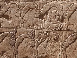 Tänzerinnen beim Opet-Fest im Luxor Tempel