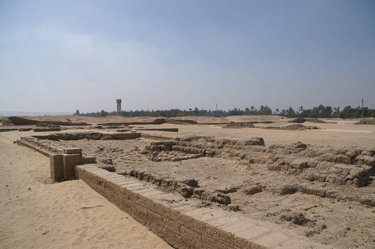 Die Überreste der Stadt Achet-Aton Bild: Friedrich Graf