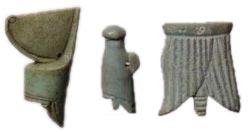Krone Unter-, Oberägyptens, Schendjit (Schurz)- Amulett