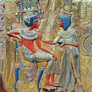 Stuhl Tutanchamuns mit Anchesenamun