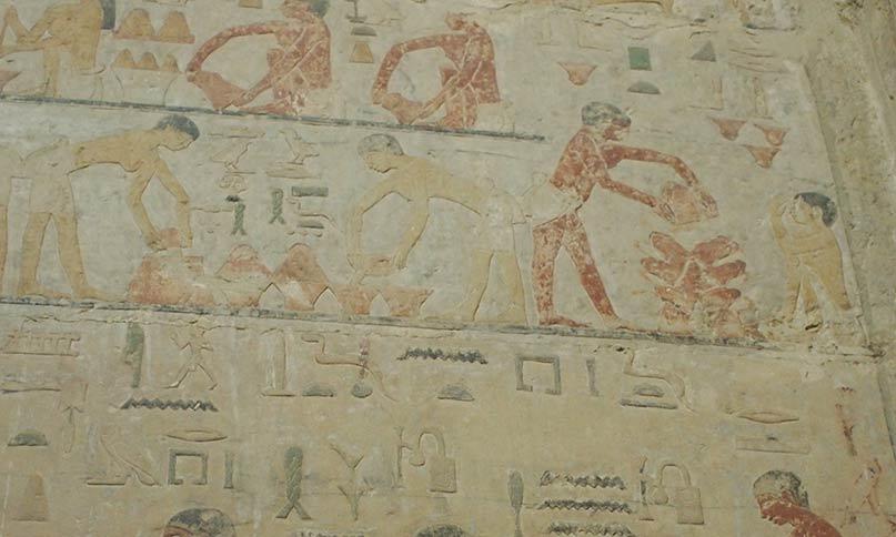 Brot backen im Grab des Ti, Sakkara