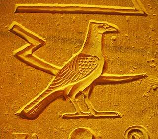Hieroglyphen am Kom Ombo Tempel