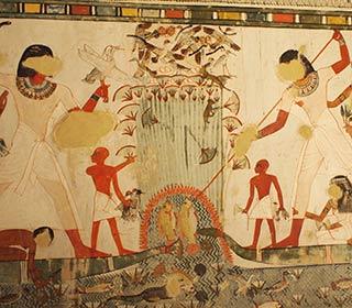 Vogeljagd und Fischstechen im Grab des Menna