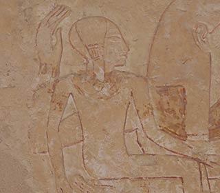 Kind im Hatschepsut-Tempel