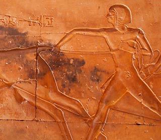 Der junge Ramses II. jagt einen Stier