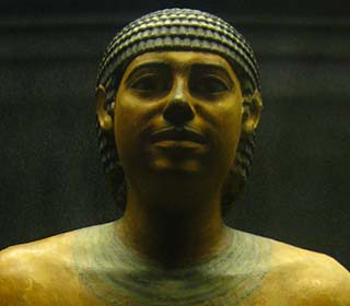 Ein Beamter aus dem Imhotep Museum Sakkara