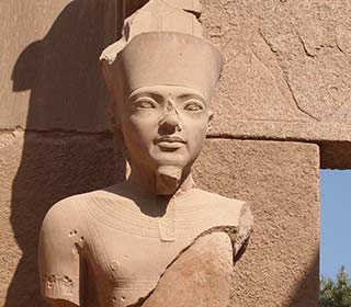 Der Gott Amun mit dem Konterfei Tutanchamuns