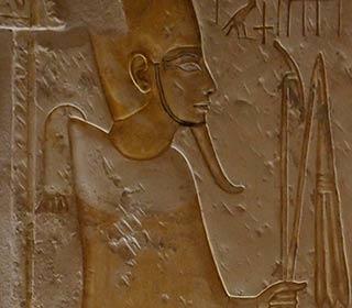 Osiris aus dem Grab des Maya in Sakkara