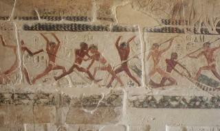 Fischerstechen im Grab Nianchchnum und Chnumhotep