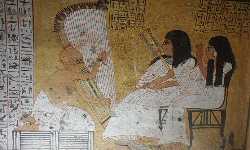 Harfner im Grab des Inherkau
