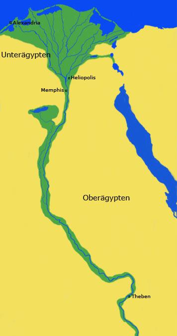 Karte Von ägypten.Karte Aegyptens Das Land Das Alte ägypten