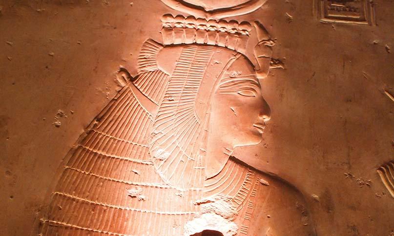 Die Göttin Isis im Abydos-Tempel
