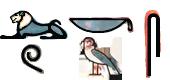 Lukas in Hieroglyphen