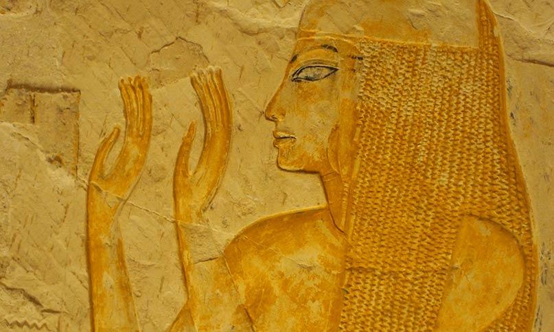Die Dame Merit mit einer kunstvollen Perücke Grab des Maya, Sakkara Neues Reich, 18. Dynastie