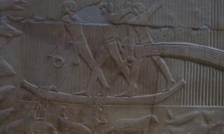 Nilpferdjagd im Grab des Kagemni