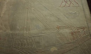 Nilschiff im Grab des Ti