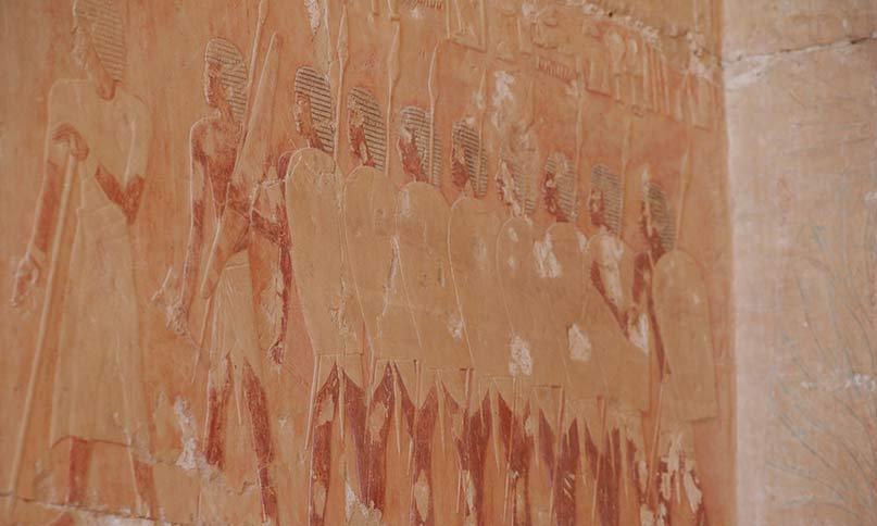 Soldaten im Tempel der Hatschepsut