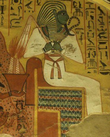 Osiris im Grab des Paschedu Theben-West Neues Reich, 19. Dynastie