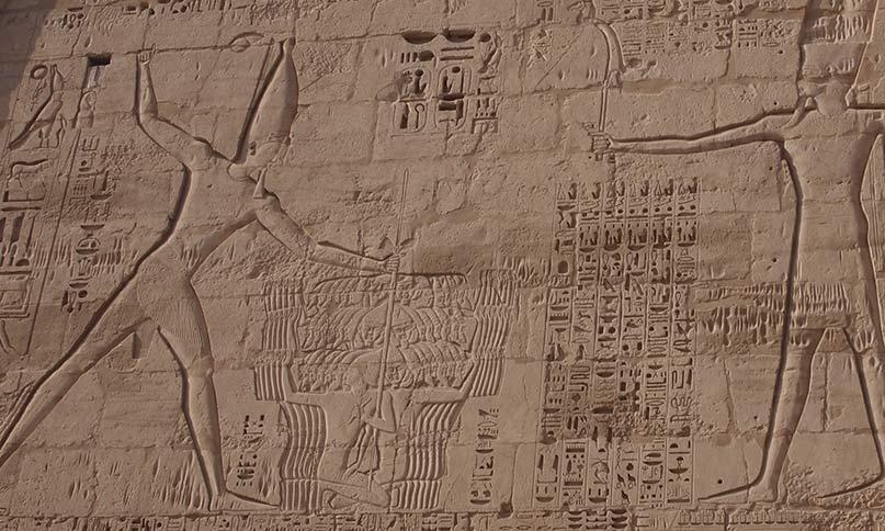Pharao erschlägt die Feinde