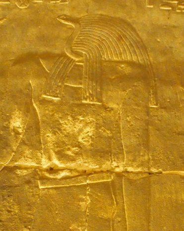 Die Göttin Renenutet im Tempel von Edfu gr.-römische Zeit