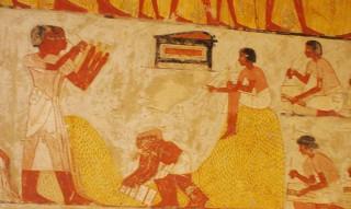 Schreiber im Grab des Menna