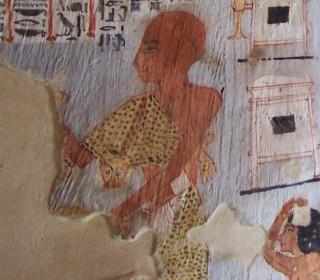 Sem-Priester mit Leopardenfell im Grab des Roy