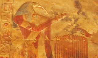 Der ibisköpfige Gott Thot war der Gott der Hieroglyphen und Schreiber