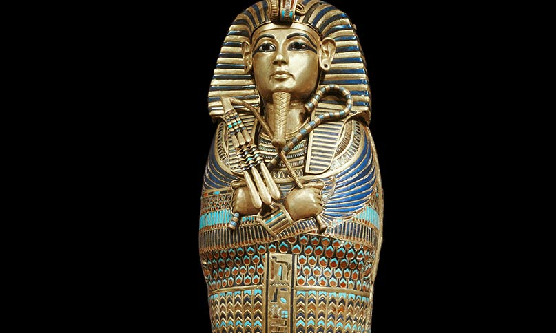 Minisarkophag von Tutanchamun
