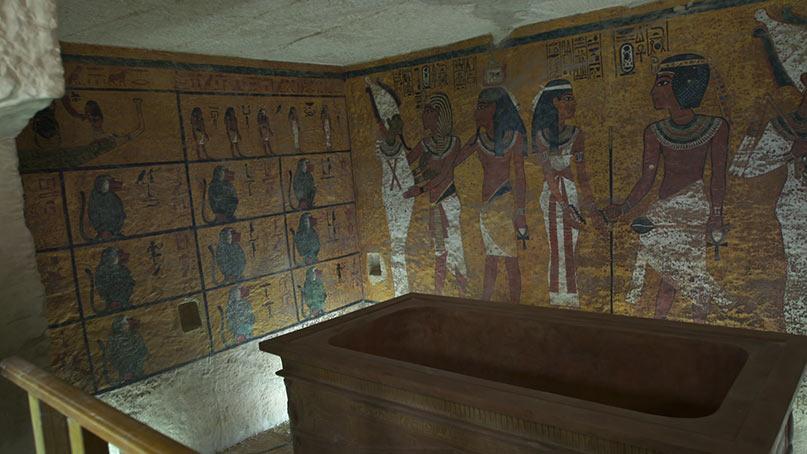 Faksimile von der Grabkammer Tutanchamuns Copyright BBC World News