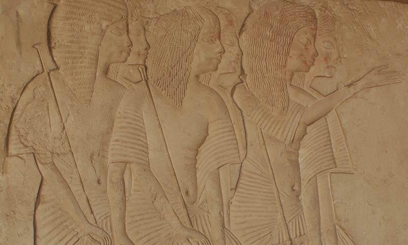 Würdenträger im Grab des Haremhab