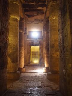 Säulenhalle in Abydos, Ägypten