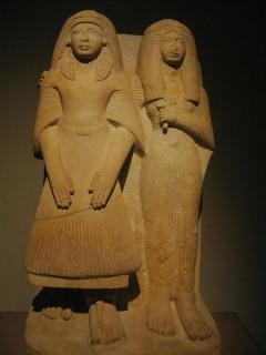 Priester Amenemipet und seine Frau