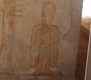 Darstellung eines Tjit-Knoten Grab des Pay und Raia in Sakkara Neues Reich, 18. Dynastie