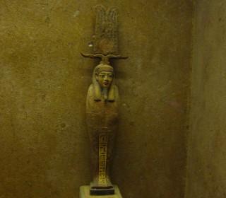 Eine Statue des Ptah-Sokar-Osiris Imhotep-Museum Sakkara Spätzeit