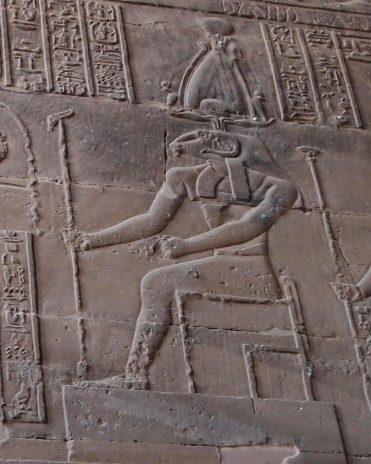 Chnum mit der Atef-Krone Tempel von Esna