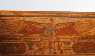 Die geiergestaltige Göttin Nechbet Medinet Habu Neues Reich, 19. Dynastie