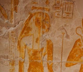 Nut mit den Hieroglyphen ihres Namens auf dem Kopf Grab des Maya, Sakkara Neues Reich, 18. Dynastie